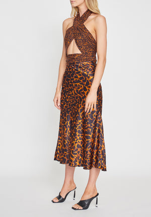 Ellie Silk Midi Skirt