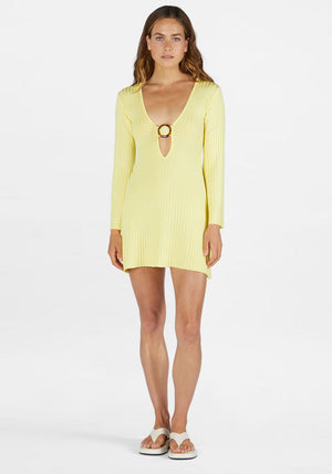 Ana Mini Dress Lemon