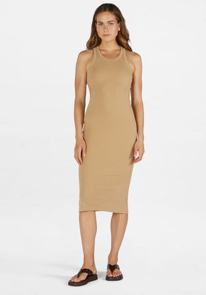 Astra Rib Dress Almond