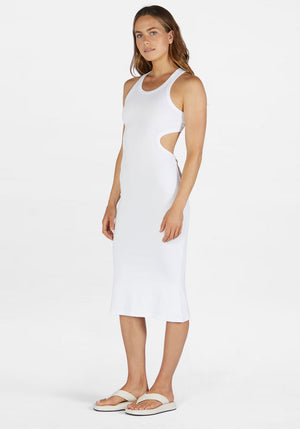 Astra Rib Dress White