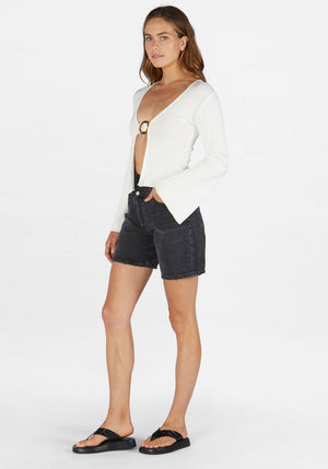 Bibi Long Sleeve Top Ivory