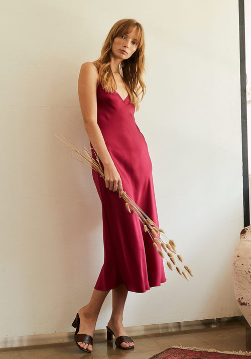 The Classic Slip Dress Fuchsia
