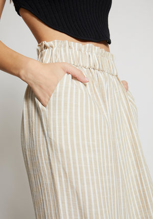 Carousel Striped Linen Pants