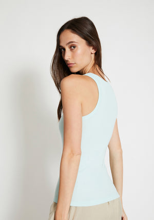 Girlfriend High Neck Singlet Spearmint