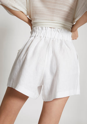Revolve Elasticated Short Ivory