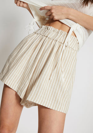 Revolve Striped Linen Short