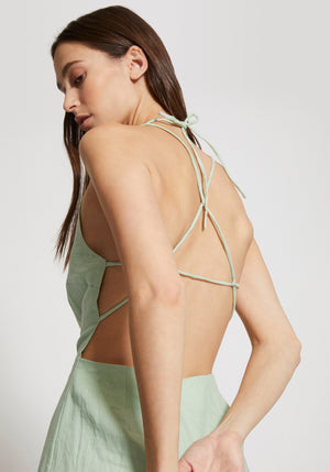 Trapese Halter Neck Dress Mint