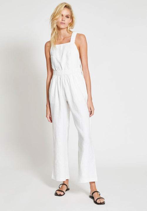 Cloud Nine Elasticated Jumpsuit White