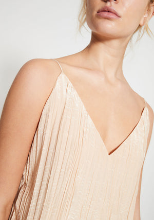 Chemise Deep V Gathered Crop Champagne