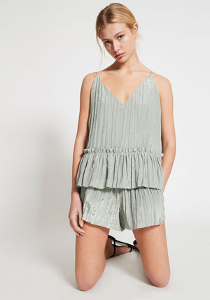 CHEMISE DEEP V GATHERED CROP