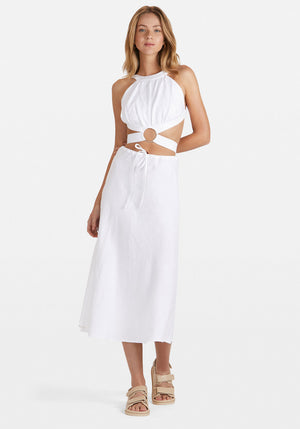 Ellie Midi Skirt White