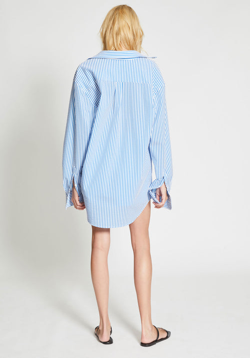 Endless Summer Oversized Shirt Blue White