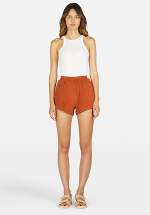 Fairweather Terry Short Terracotta