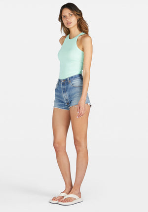 Girlfriend High Neck Singlet Mint