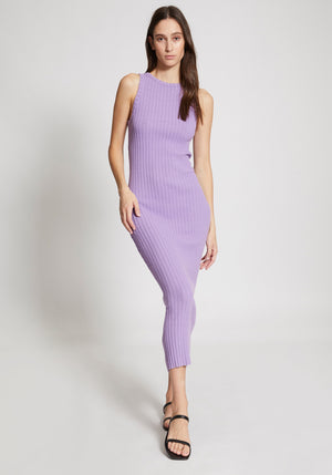 Interlink Rib Sleeveless Dress Lilac