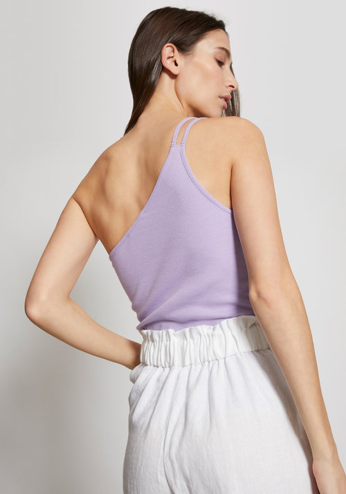 Iris One Sided Ribbed Singlet Lilac