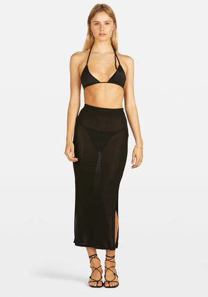 Kendal Knit Maxi Skirt Black
