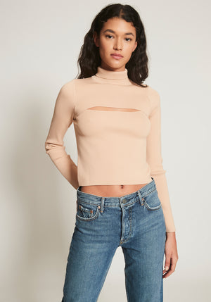 Lara Long Sleeve Crepe Top