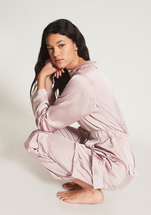 LOPEZ SATIN POCKET JUMPSUIT