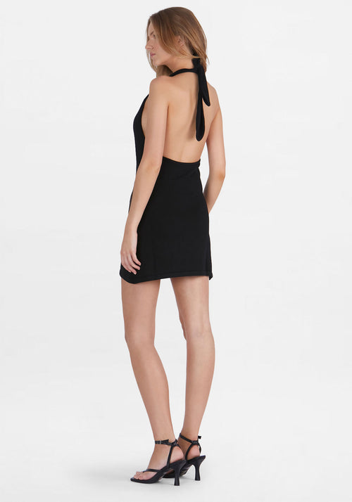 Maci Knit Halter Black
