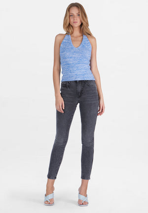 Maci Halter Top Mottled Blue