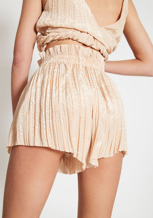 Margaux Gathered Crinkle Shorts Champagne