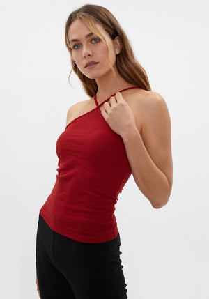 Mistress Halter Neck Singlet Berry