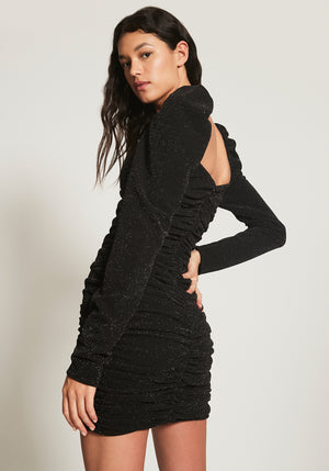 NICOLE LUREX DRESS