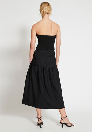 Parasol Gathered Skirt Black