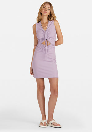 Penny Rouched Mini Dress Lilac