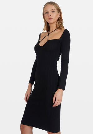 Rhodes Midi Dress Black