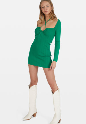 Rhodes Long Sleeve Dress Green
