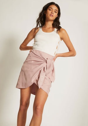 RIPPLE MINI WRAP SKIRT