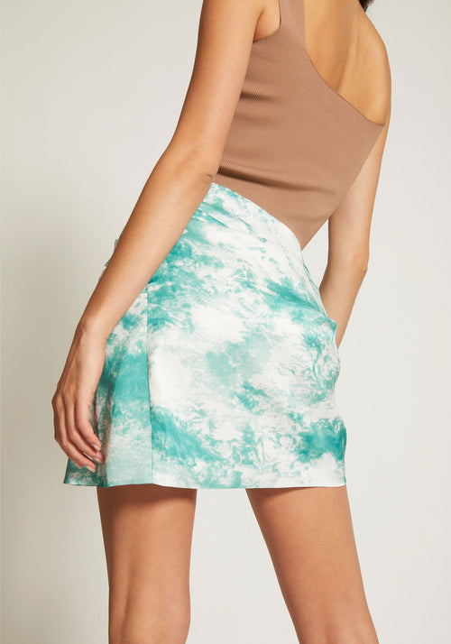 Ripple Wrap Mini Skirt