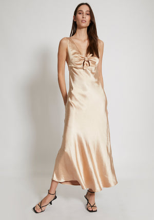 Rodeo Drive Midi Dress Champagne