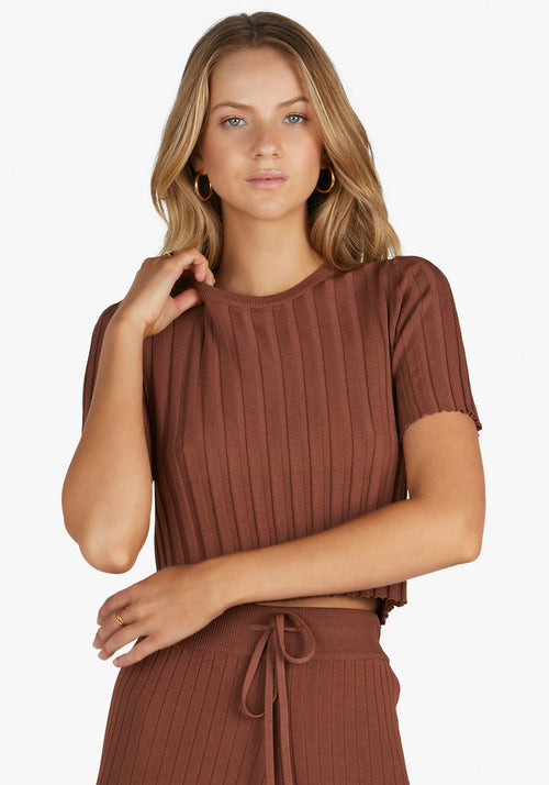 Ruby Knit Crop Chocolate