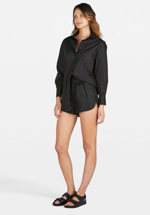Solly Shirt Dress Black