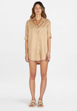 Solly Shirt Dress Coffee