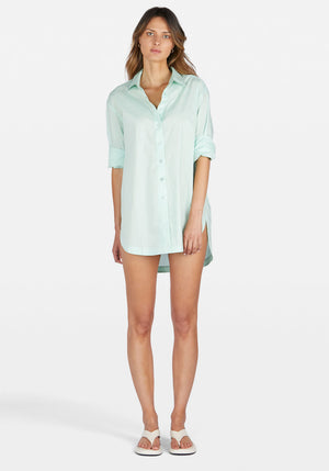 Solly Shirt Dress Mint