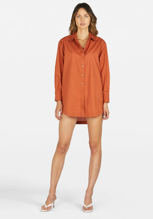 Solly Shirt Dress Teracotta