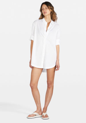Solly Shirt Dress White