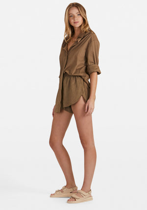 Solly Shirt Dress Khaki