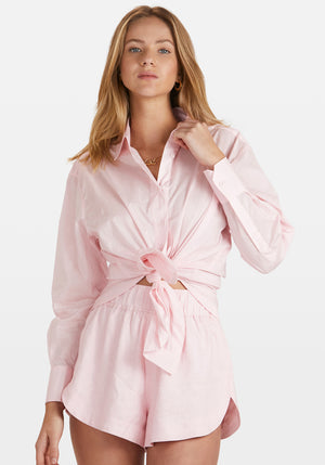 Solly Shirt Dress Light Pink