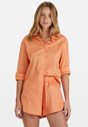 Solly Shirt Dress Tangerine