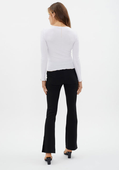 The Square Neck Rib Top White