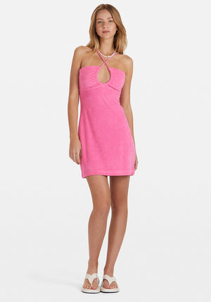 Sunny Terry Dress Hot Pink