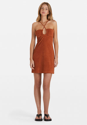 Sunny Terry Dress Terracotta