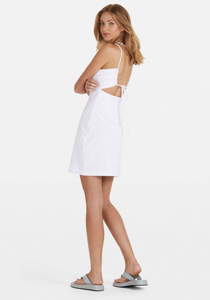 Sunny Terry Dress White