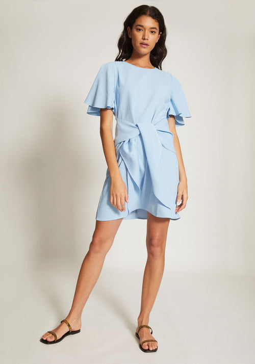 Tether Draped Sleeve Dress
