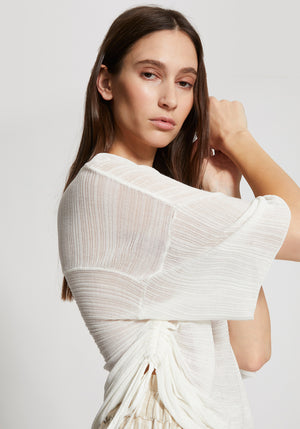 Tightrope Summer Knit Pull Top Ivory